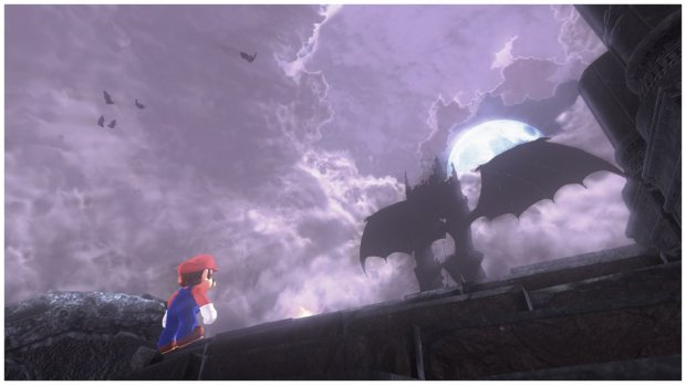 Mario vs. dragon