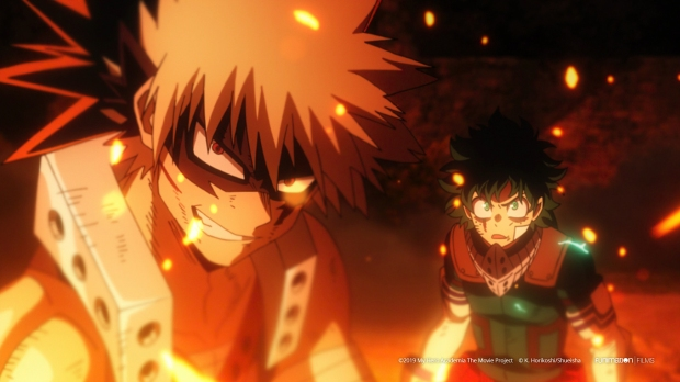 MyHeroAcademiaHeroesRising_Katsuki Bakugo (left) and Izuku Midoriya [Deku] (Right)